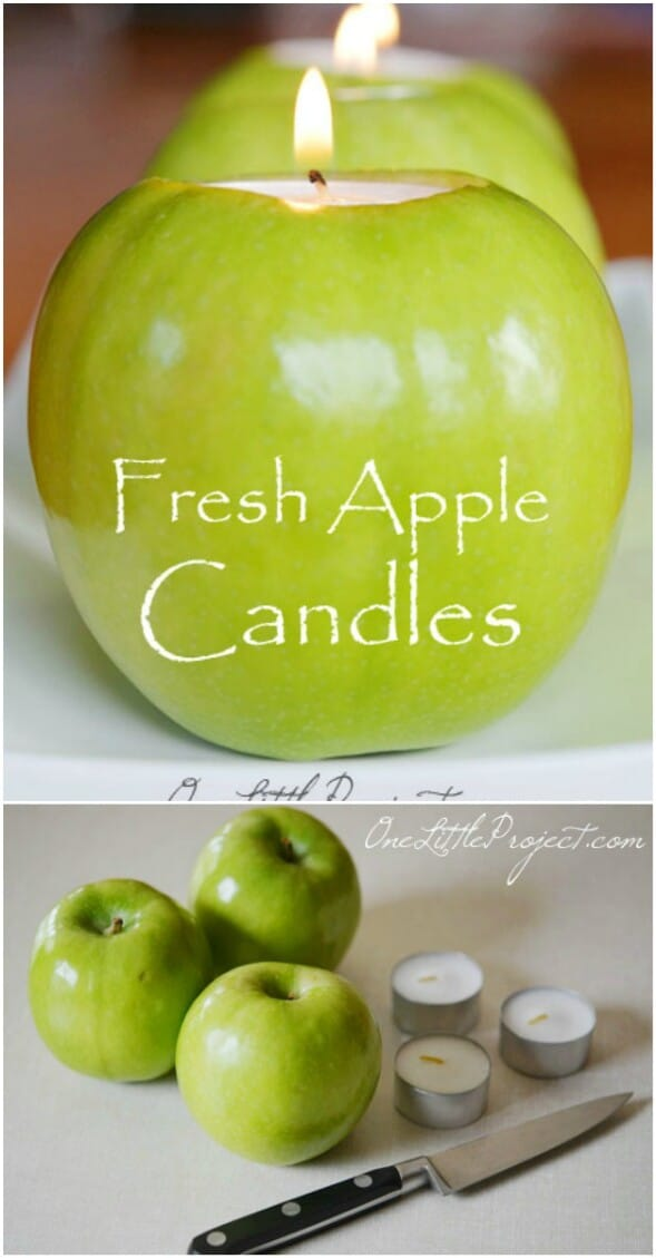 Fall Apple Candle Holders