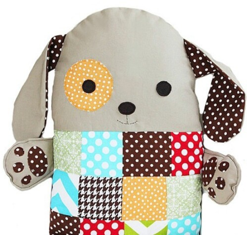 Patchwork Dog Pillow Toy