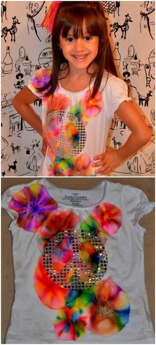 Tie-dye a T-shirt.