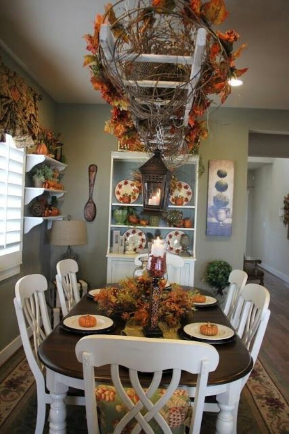 60 fabulous fall diy projects to decorate and beautify for Decor ladder house