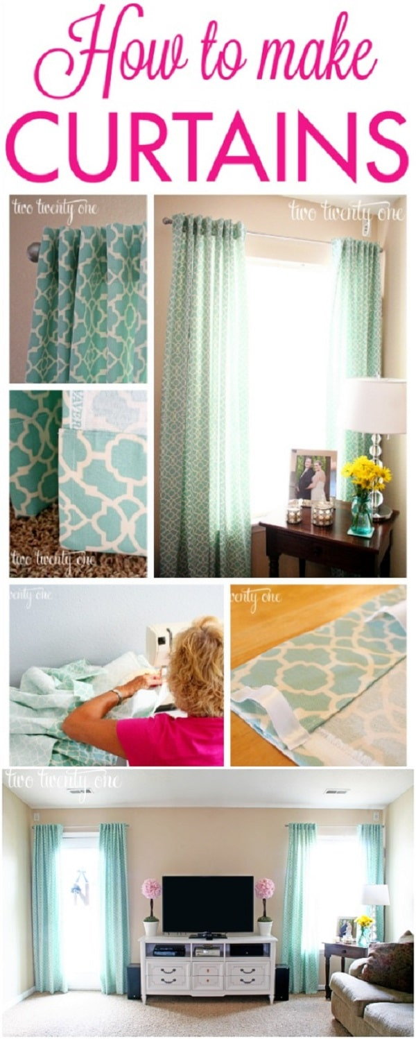 20 elegant and easy diy curtain ideas to dress up your windows diy diy basic panels solutioingenieria Images