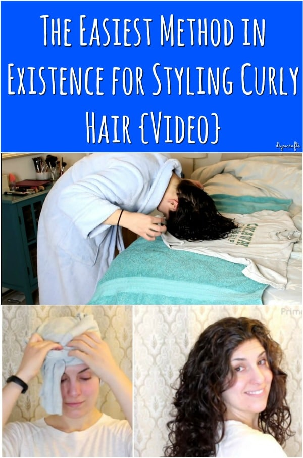 The Easiest Method in Existence for Styling Curly Hair {Video}