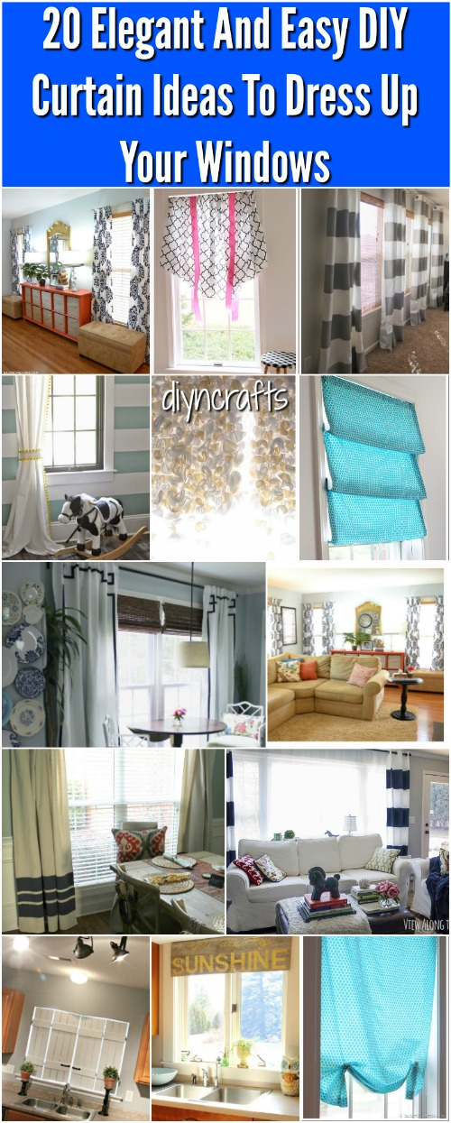 You love your curtains, right? I mean, one of the fastest and easiest ways to completely change the look of your room is to change your curtains. I can't tell you how many times over the years I have added new curtains to a room to give it a major facelift. You may love your curtains but you don't love paying for new ones every time you want to change the look of a room. That's why I've put together a great list of 20 easy DIY curtains that you can make with little or no money whatsoever.