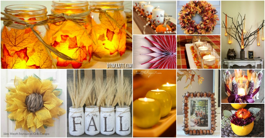 60 Fabulous Fall Diy Projects To Decorate And Beautify