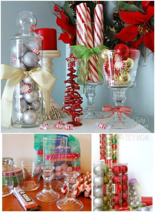 40 festive dollar store christmas decorations you can easily diy diy candlestick holders solutioingenieria Choice Image