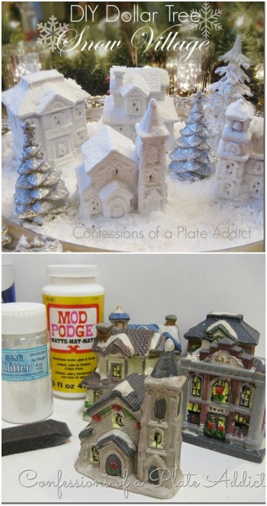 DIY Snow Village