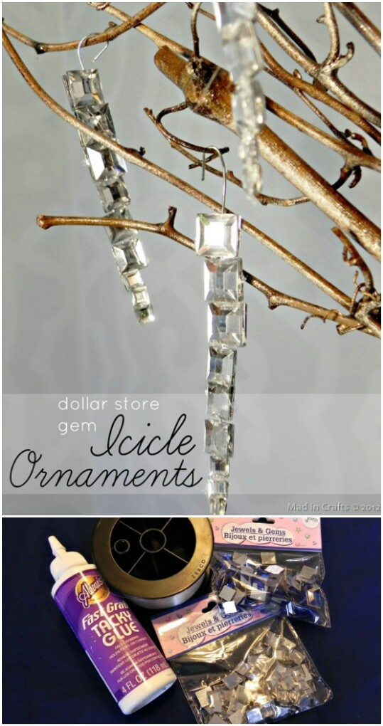 Gem Icicle Ornaments