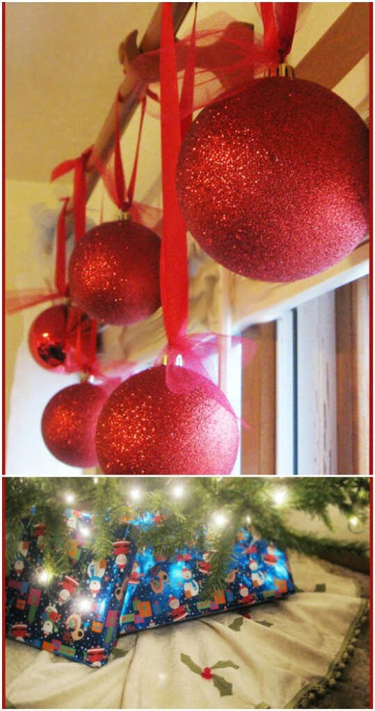 Giant Glitter Ornaments