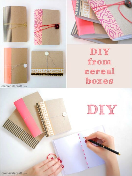 45 amazingly creative repurposed cereal box projects diy for What to make out of cereal boxes