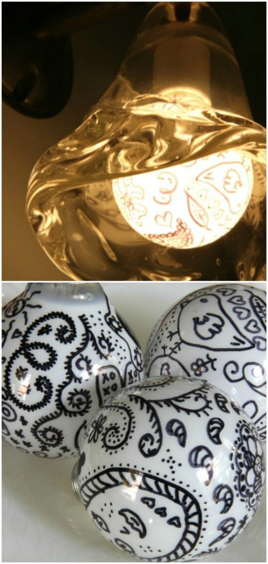 Doodle Light Bulbs Pop Art