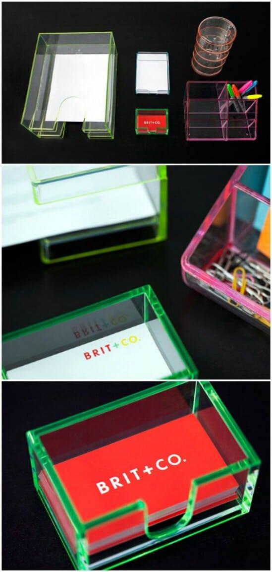 Neon Desk Organizers