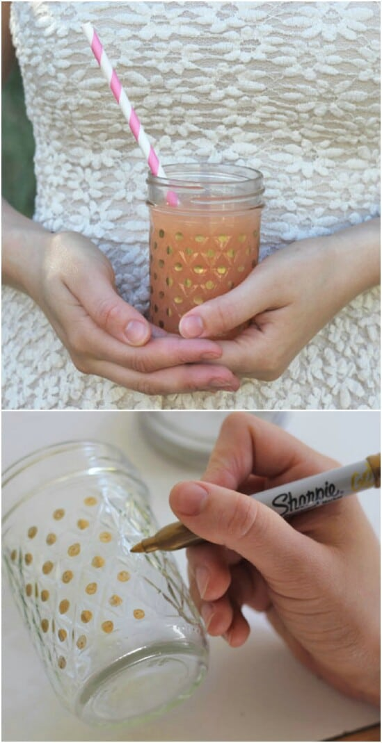 Sharpie Designed Mason Jars