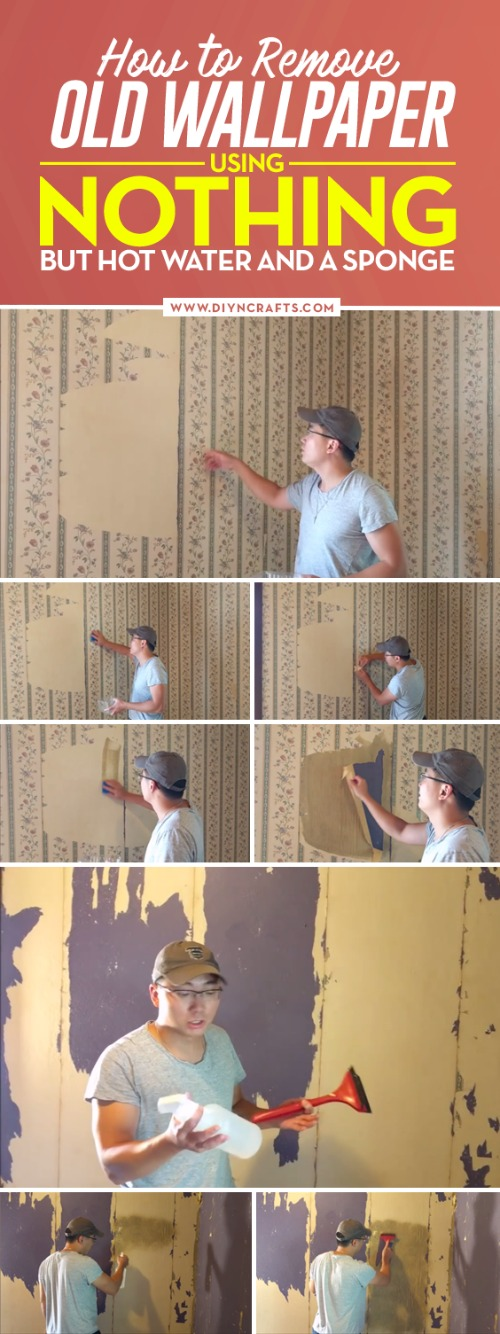 How to Remove Old Wallpaper Using Nothing But Hot Water and a Sponge {Video Instructions}