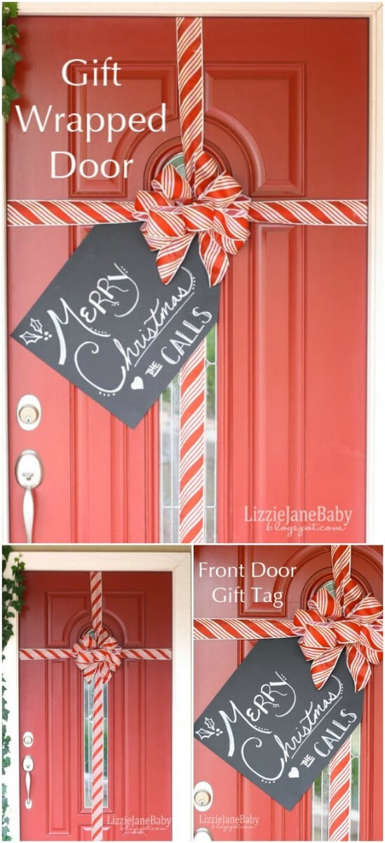 20 diy christmas door decorations to make your home blissfully welcoming