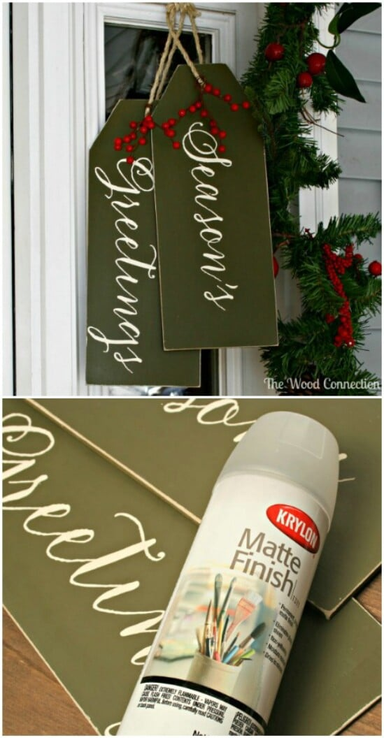 20 Diy Christmas Door Decorations To Make Your Home Blissfully