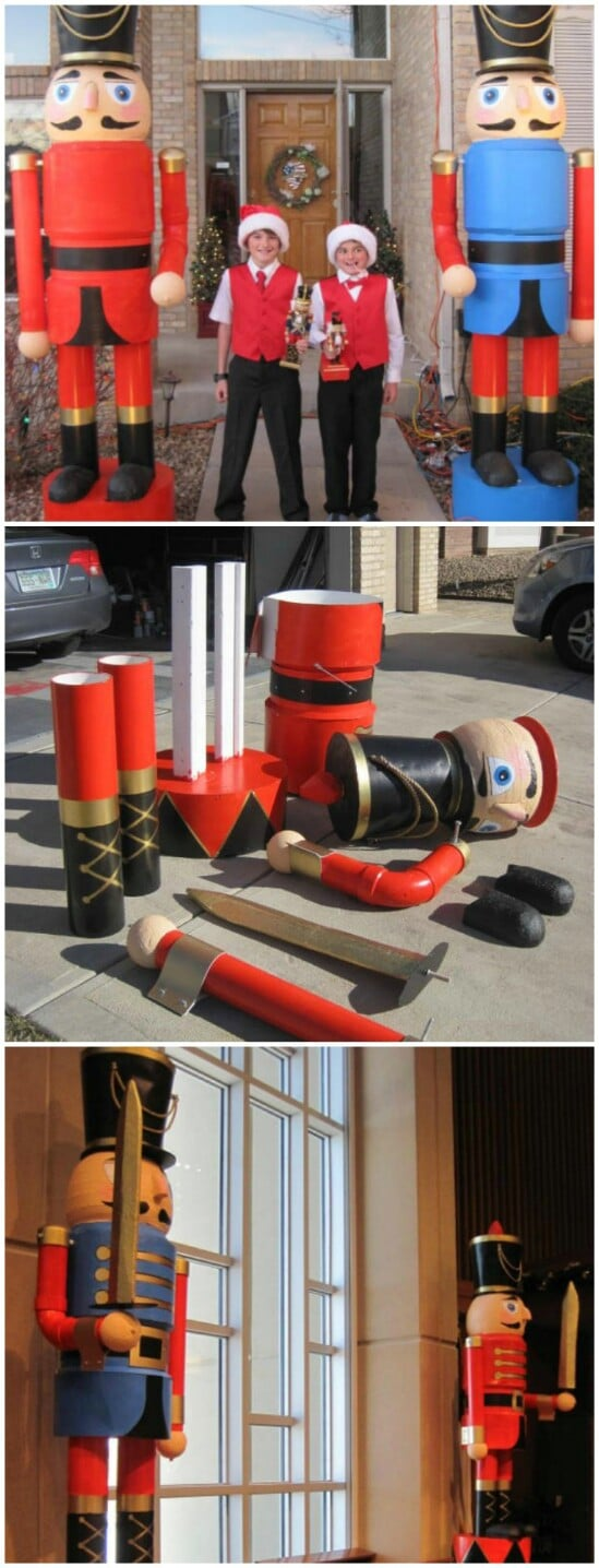 diy nutcrackers - Large Outdoor Christmas Decorations