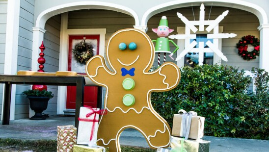 diy gingerbread man - Wooden Led Christmas Decoration