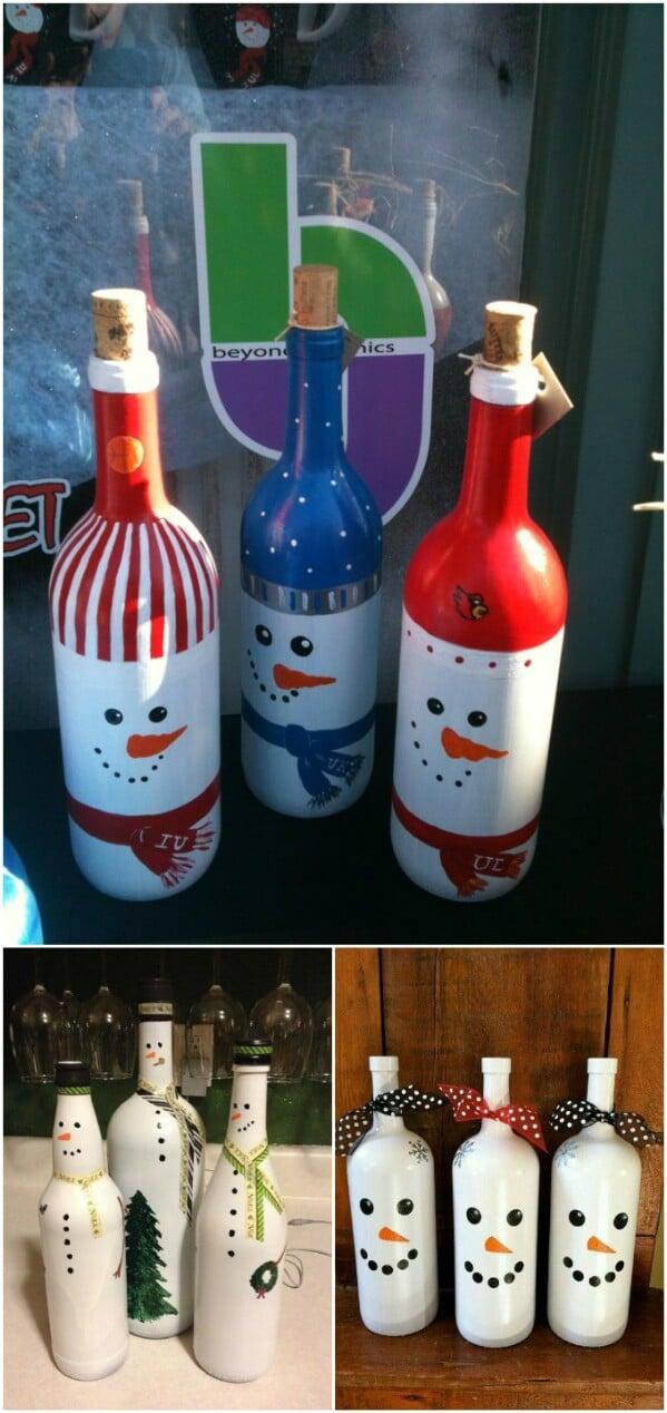 Wine Bottle Crafts Paint