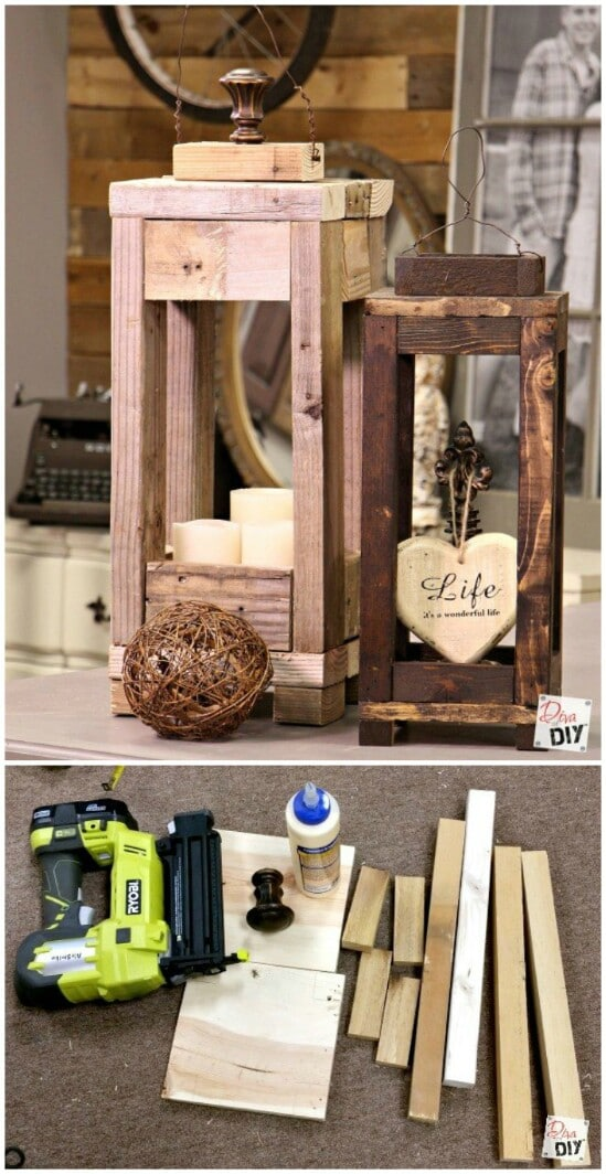 20 impossibly creative diy outdoor christmas decorations diy crafts - Scrap wood decorated house ...