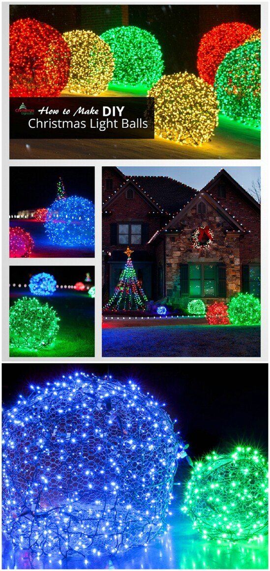 these lighted ornamental balls all over your lawn will surely give off a merry look theyre relatively easy to make and you only need chicken wire and some - Wire Lighted Outdoor Christmas Decorations