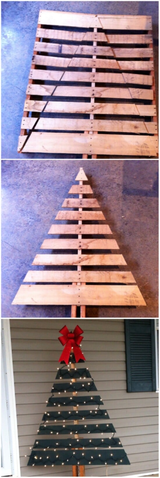 20 impossibly creative diy outdoor christmas decorations diy crafts diy pallet christmas tree solutioingenieria