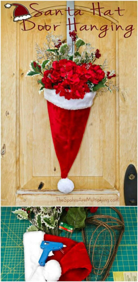 santa hat door hanging
