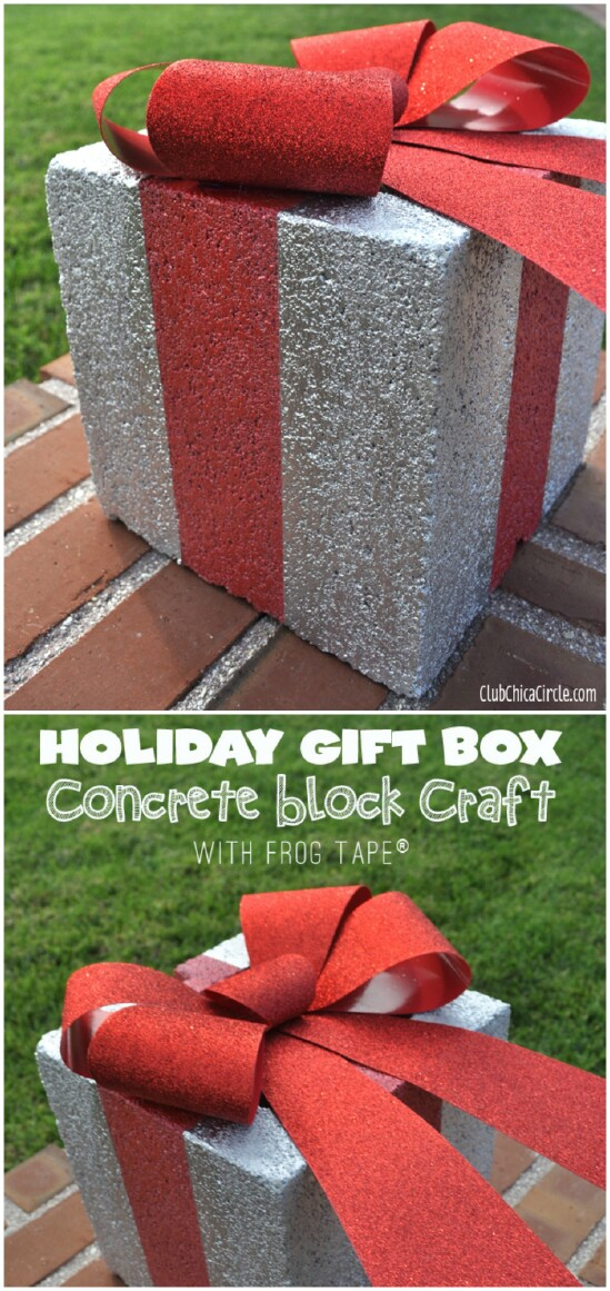 Concrete Holiday Gift Box
