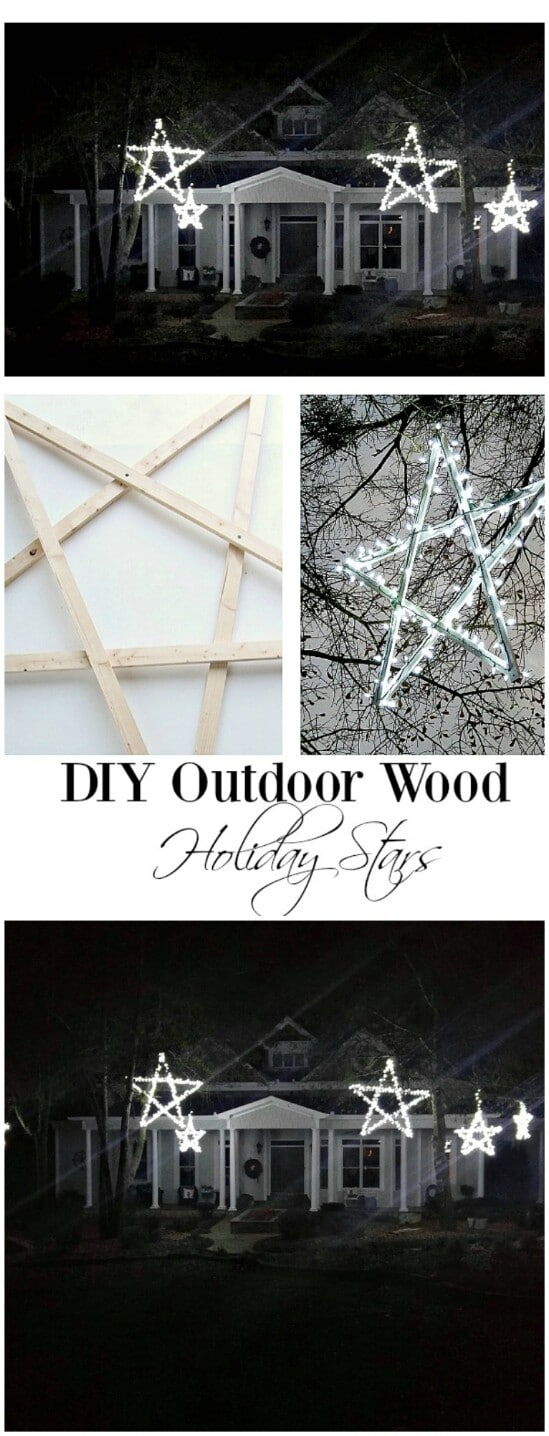 diy wooden stars - Disney Wooden Christmas Yard Decorations