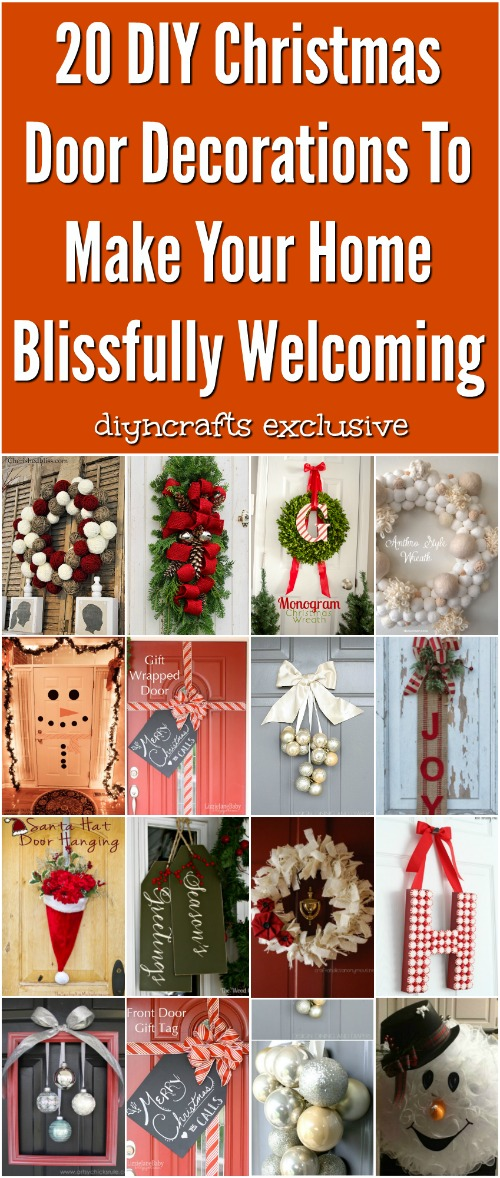 20 diy christmas door decorations to make your home blissfully welcoming its that time of