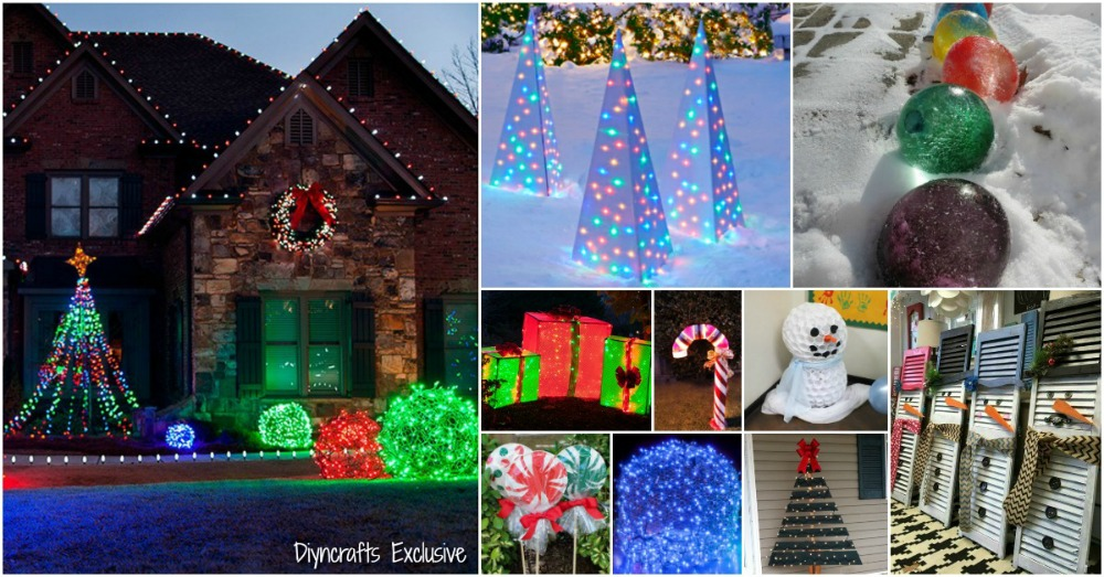 20 impossibly creative diy outdoor christmas decorations. Black Bedroom Furniture Sets. Home Design Ideas