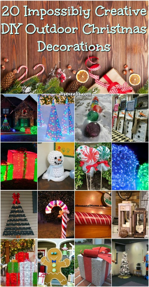 Superieur 20 Impossibly Creative DIY Outdoor Christmas Decorations {Brilliant Ideas}