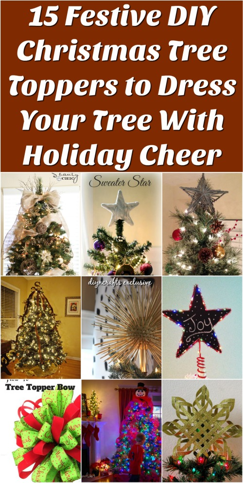 15 festive diy christmas tree toppers to dress your tree with holiday cheer brilliant collection - How To Make A Christmas Tree Topper