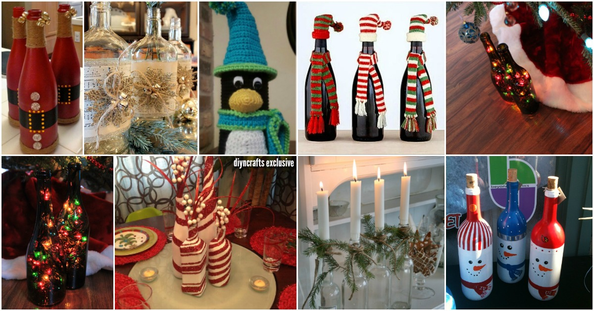 there are just so many ways to diy your christmas decorating like these 40 festive dollar store christmas decorations you can easily diy - Christmas Wine Bottle Decorations