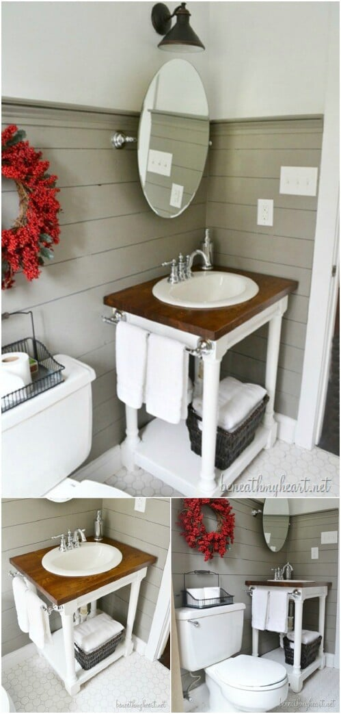 20 gorgeous diy bathroom vanities to beautify your beauty routine diy crafts for Inexpensive bathroom vanity ideas