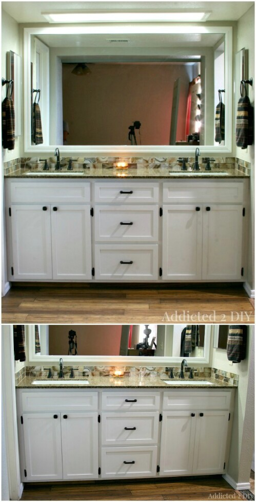 Easy DIY Double Vanity