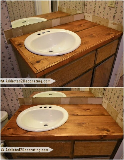 Cheap Wood Vanity Top