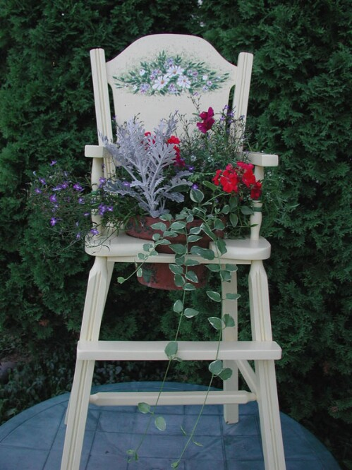 Farmhouse Chair Planter