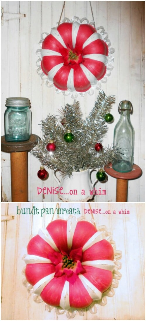 bundt pan wreath - Country Christmas Decorations