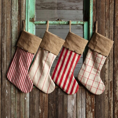 rustic country stockings - Country Christmas Decorations