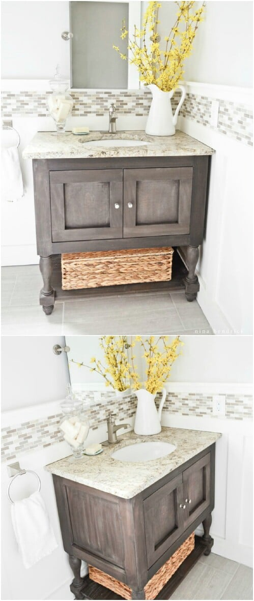 DIY Pottery Barn Inspired Vanity
