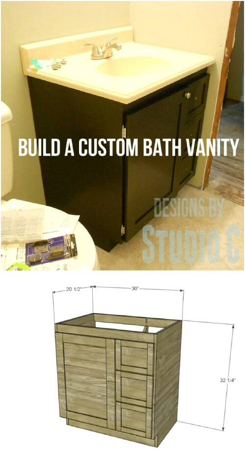 Custom Traditional Wooden Vanity