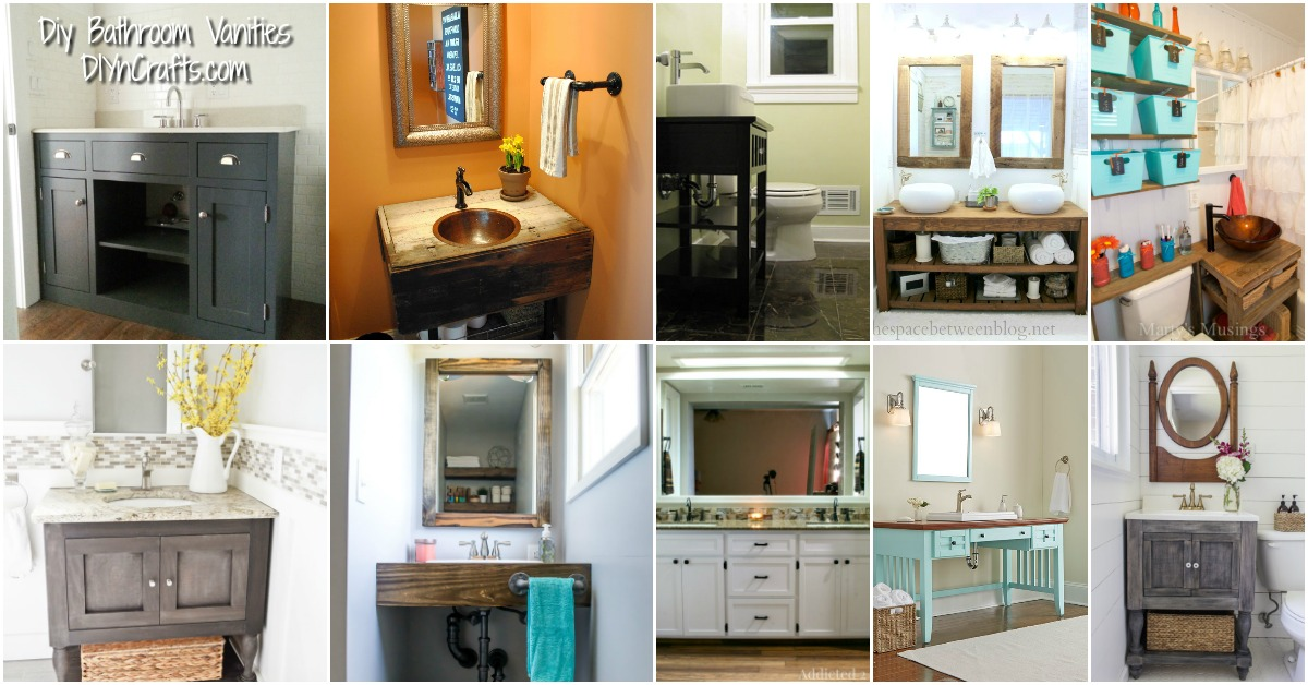 20 Gorgeous DIY Bathroom Vanities To Beautify Your Beauty Routine   DIY U0026  Crafts