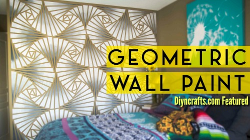 This Beyond Genius DIY Geometric Wall Art Project Will Blow Your Mind