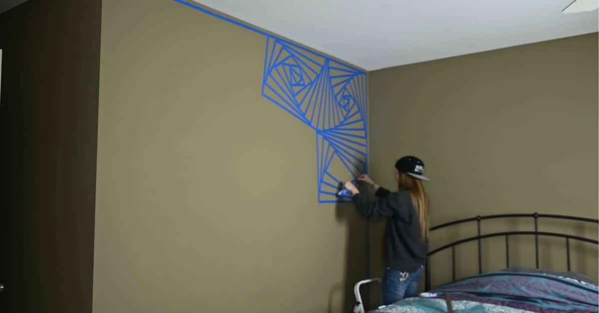 This beyond genius diy geometric wall art project will for Geometric wall art diy