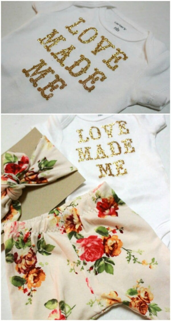 """Love Made Me"" Onesie"