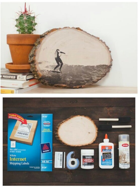 DIY Photo Wood Slice Art