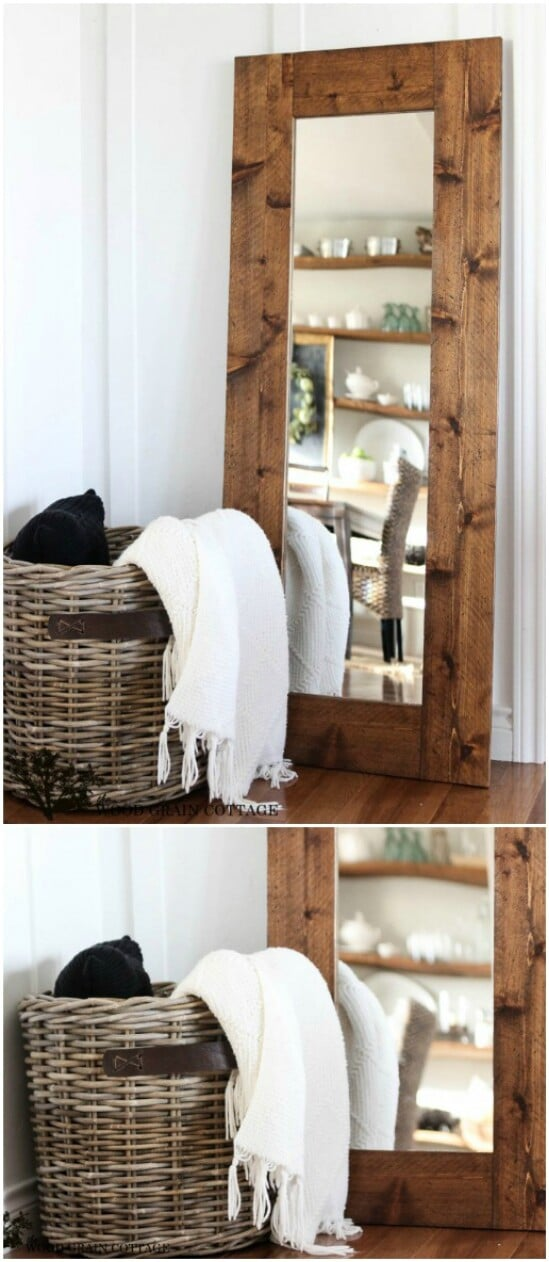 DIY Wood Framed Mirror