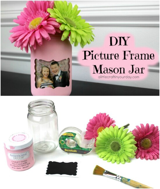 DIY Mason Jar Picture Frame