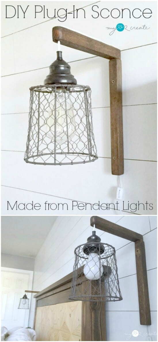 plug in sconce from pendant lights - Rustic Farmhouse Decor