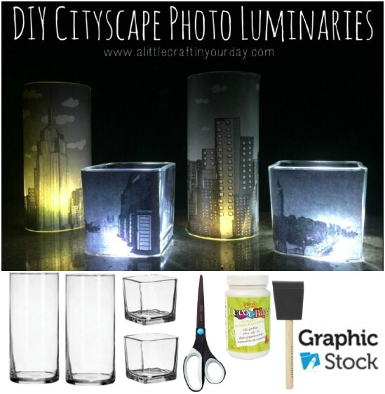 DIY Cityscape Luminaries